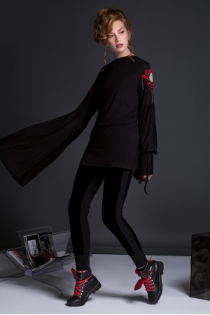 ANEMONE BLOUSE WITH LONG SLEAVES IN BLACK