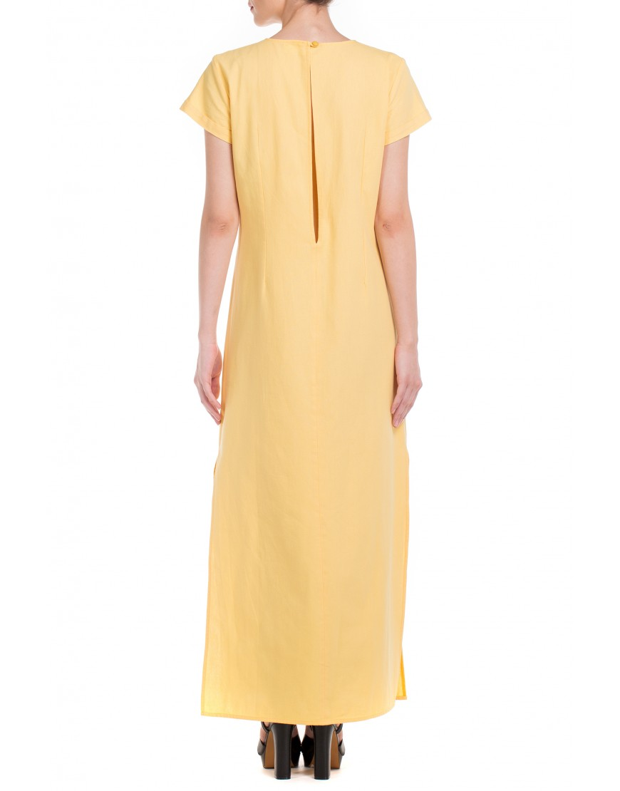 Tulip Long Yellow Dress