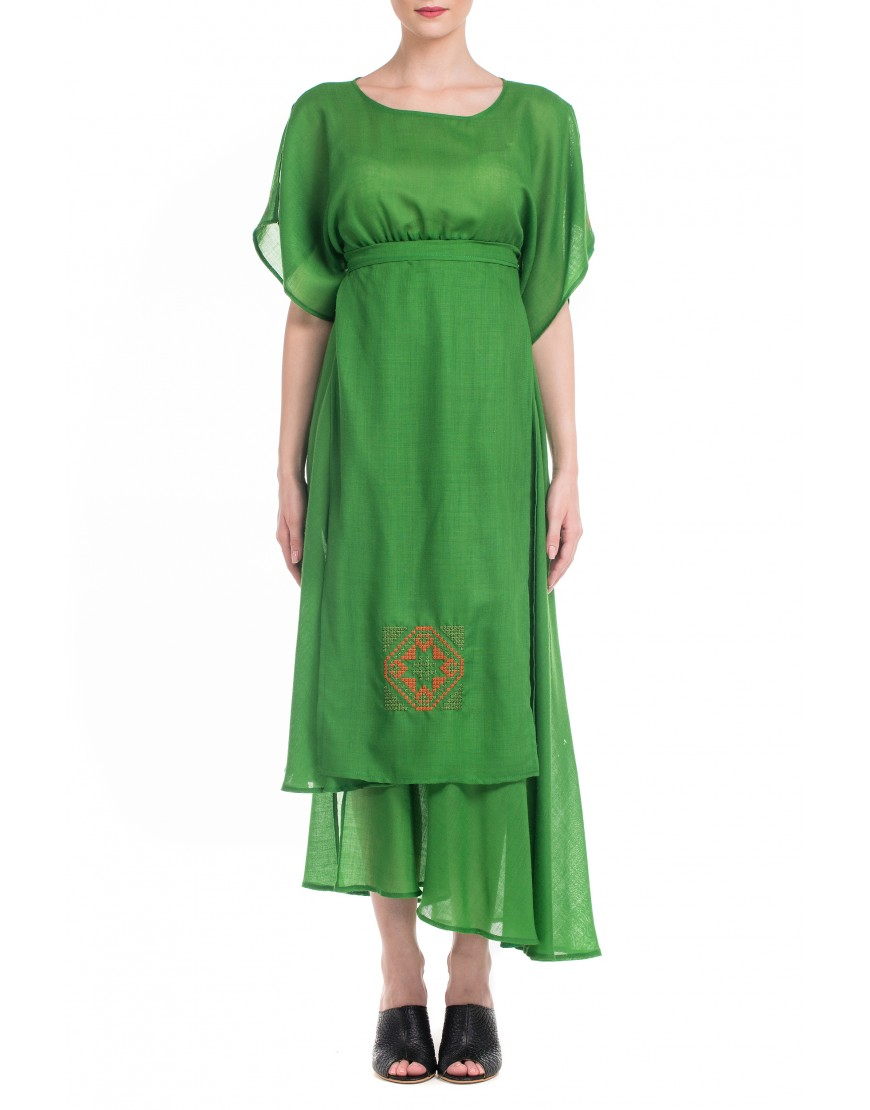 Blossom Eye Green Dress
