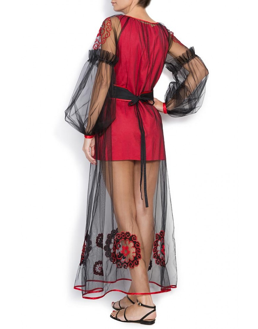 Spiralflower Dressy Gown in Red