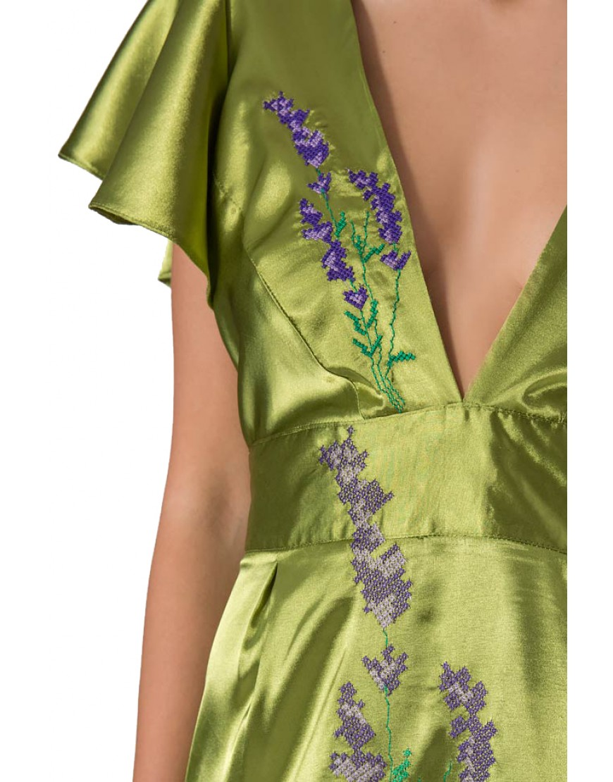 Lavender Dressy Gown in Green