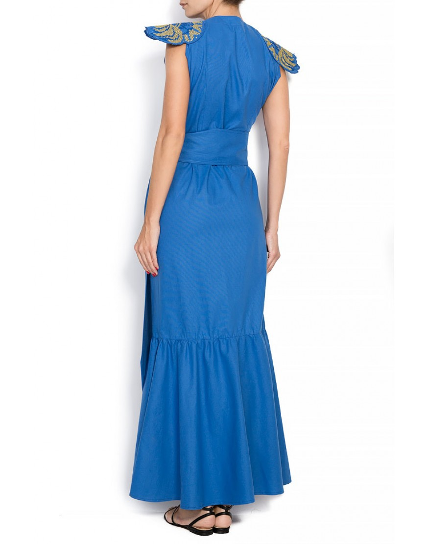 Peony Dressy Gown in Blue