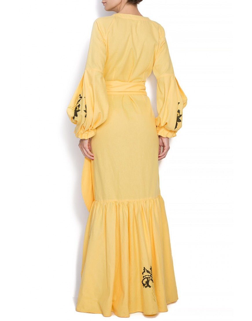 Carnation Dressy Gown in Yellow