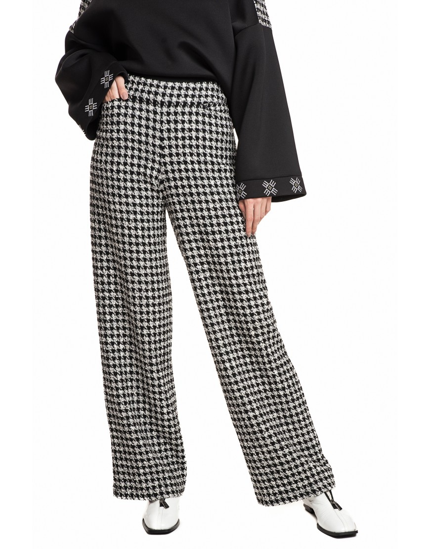Grey Plaid Long Pants
