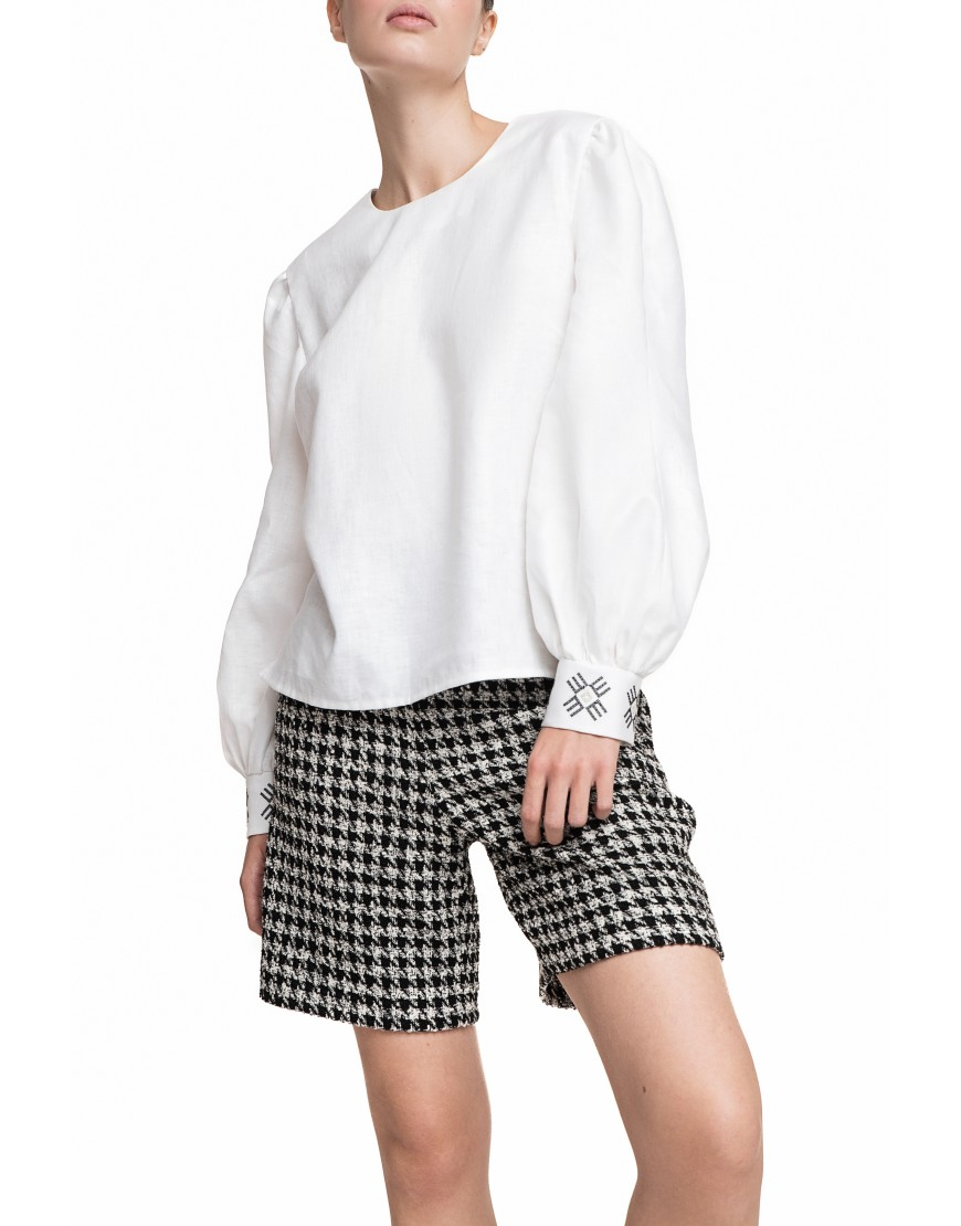 Grey Checkered Shorts