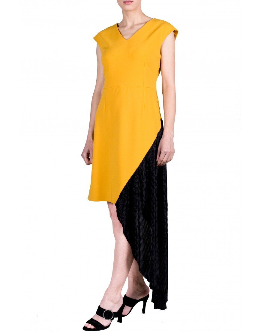Logo Yellow Dress with Black Touch