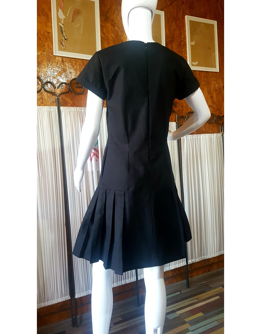 Diamond Black Cotton Dress