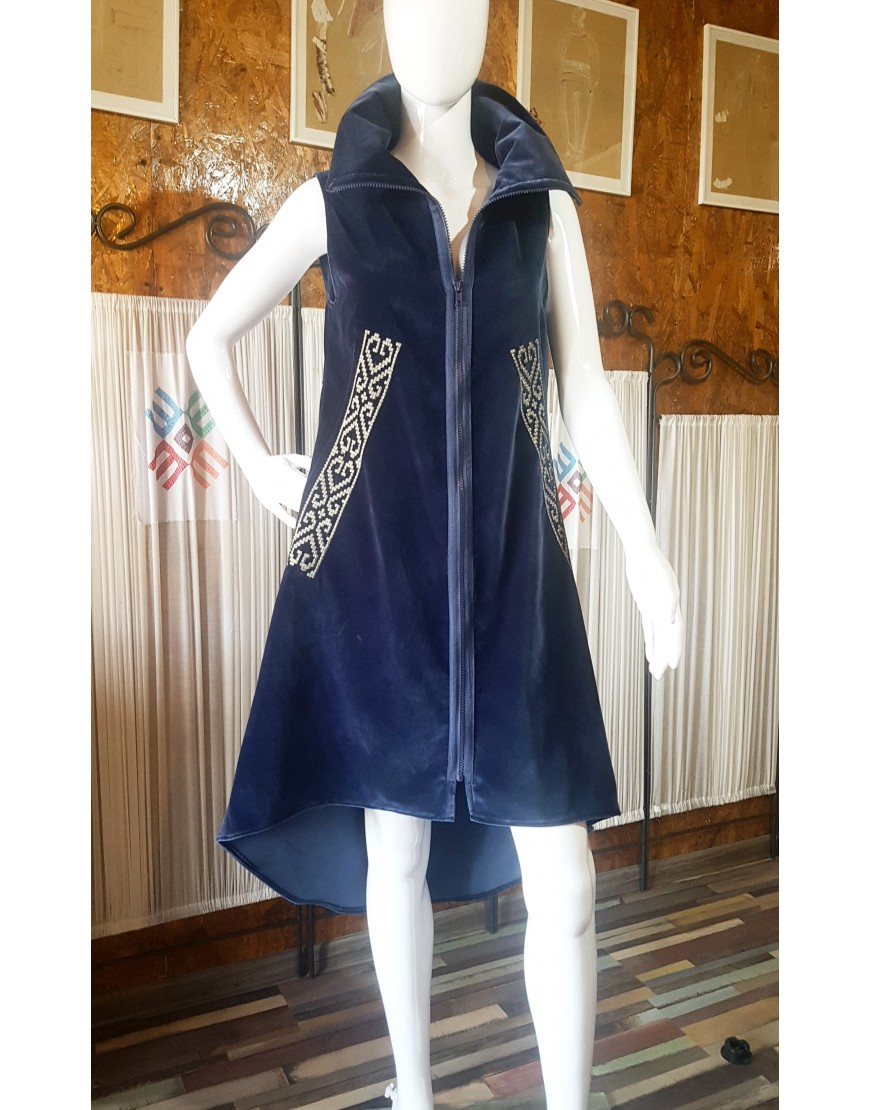 Hearts NavyBlue Sarafan Dress