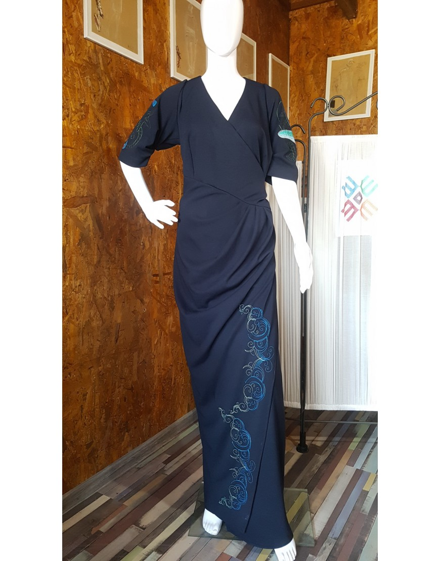 Marine BlueNavy Evening Dress