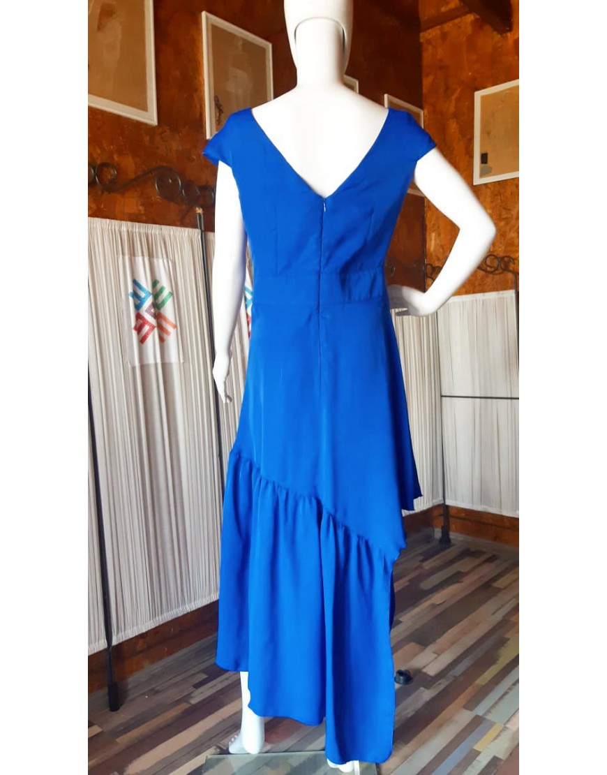 Sunflower Blue Silk Dress