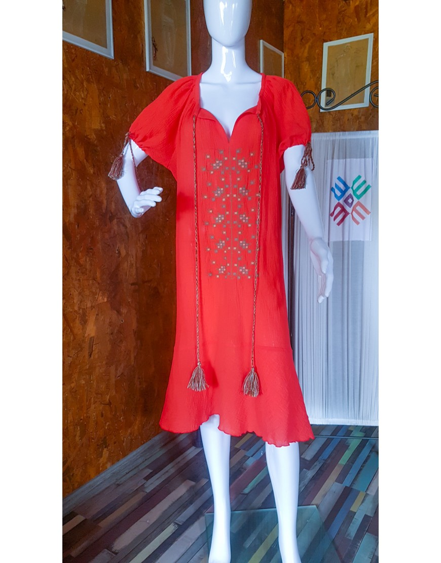 TreeOfLife Red Dress