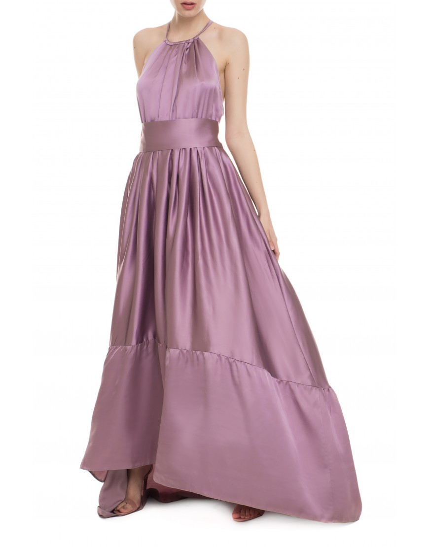 Sunflower Old Rose Silk Long Dress