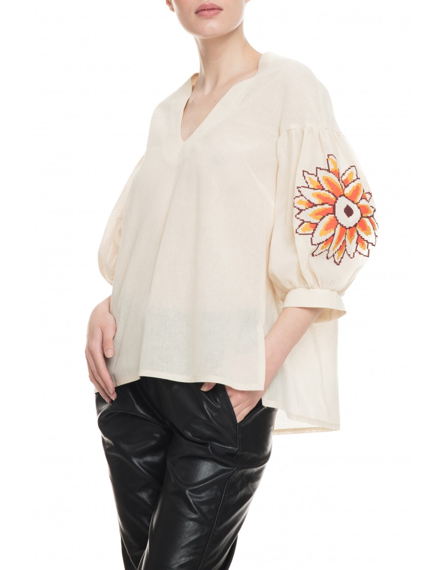 Sunflower Natur Linen Blouse