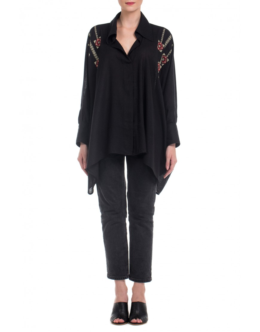 Blossom Eye Blouse in Black