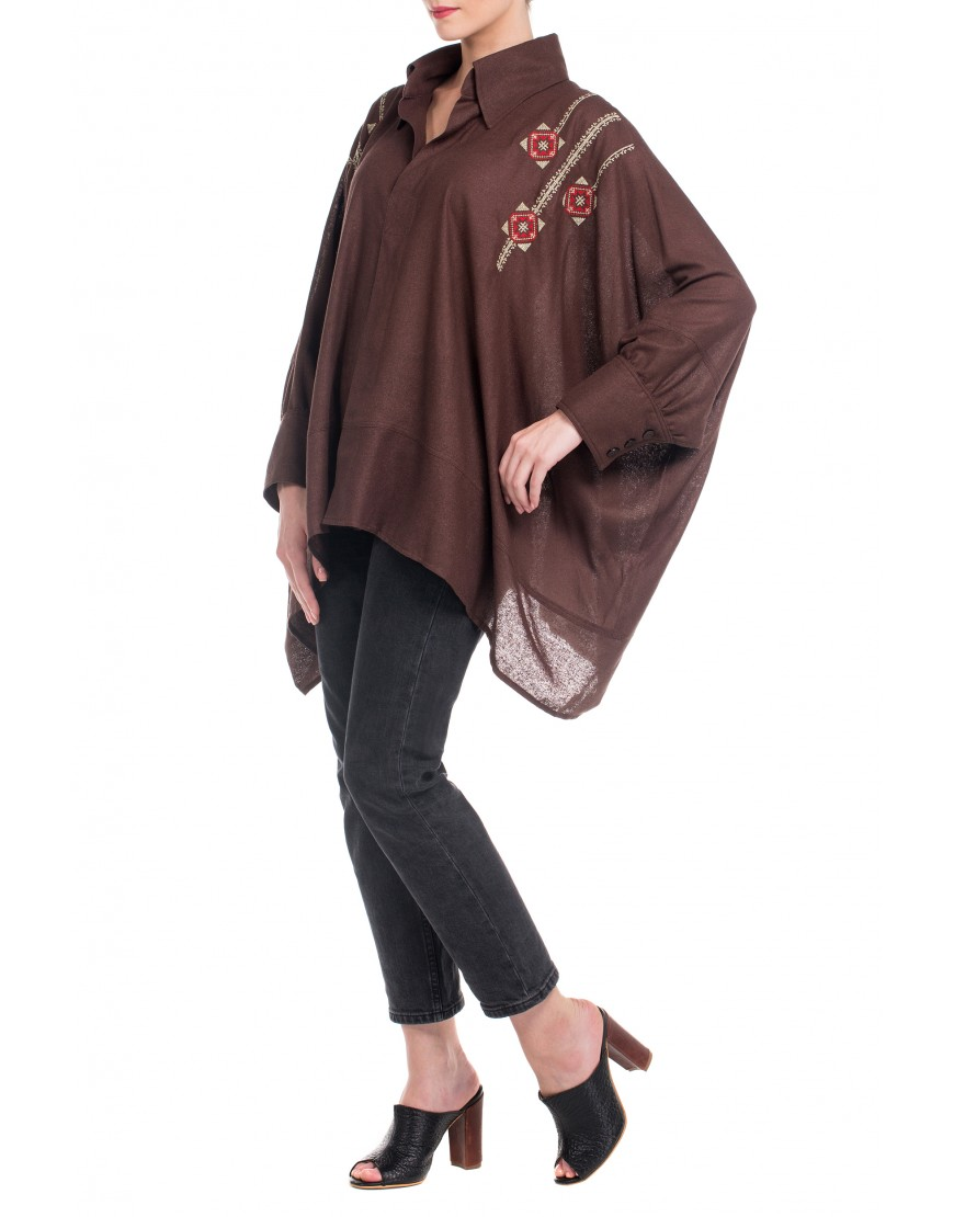 Blossom Eye Blouse in Brown