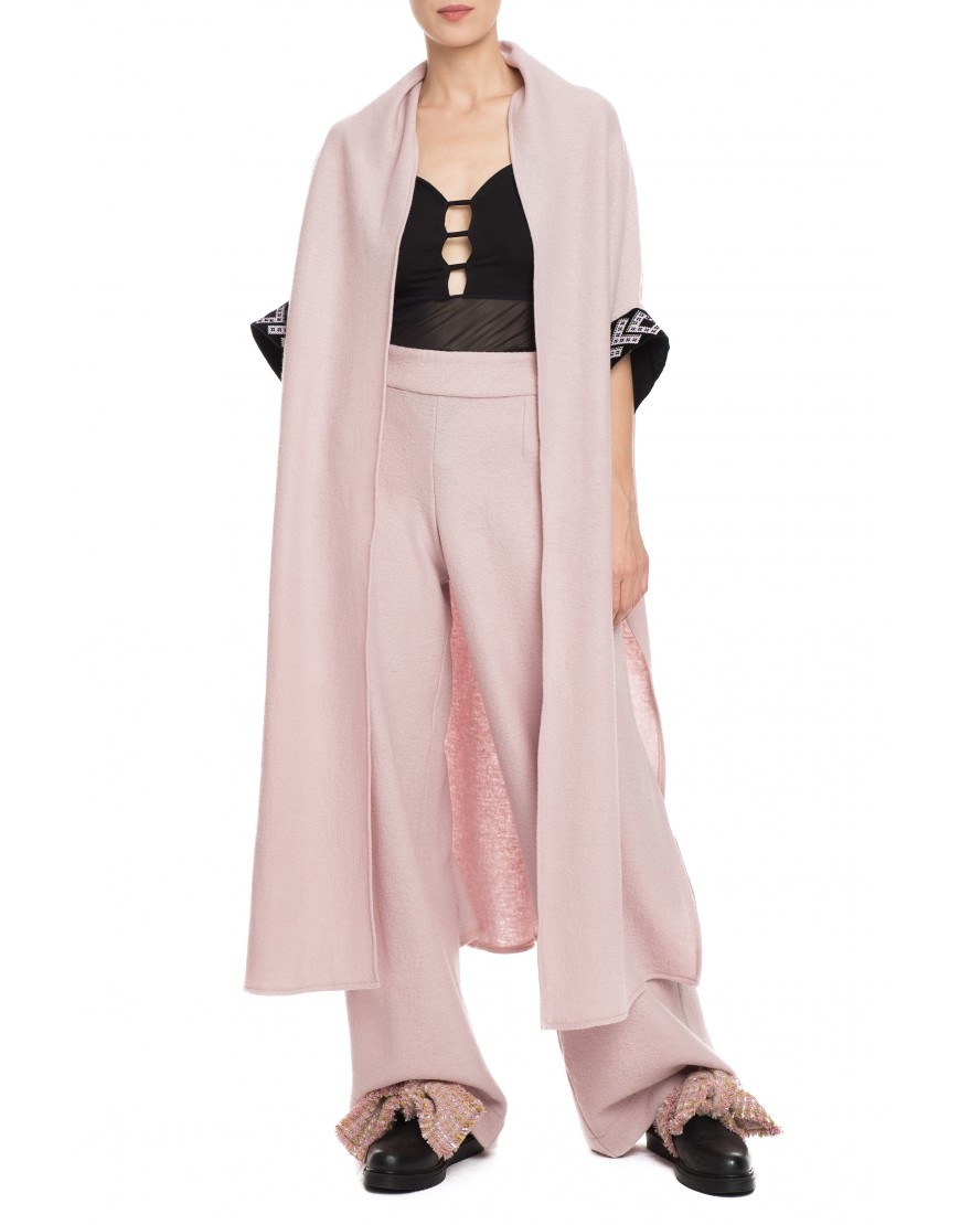 Arrows Pink Cashmere Long Cardigan