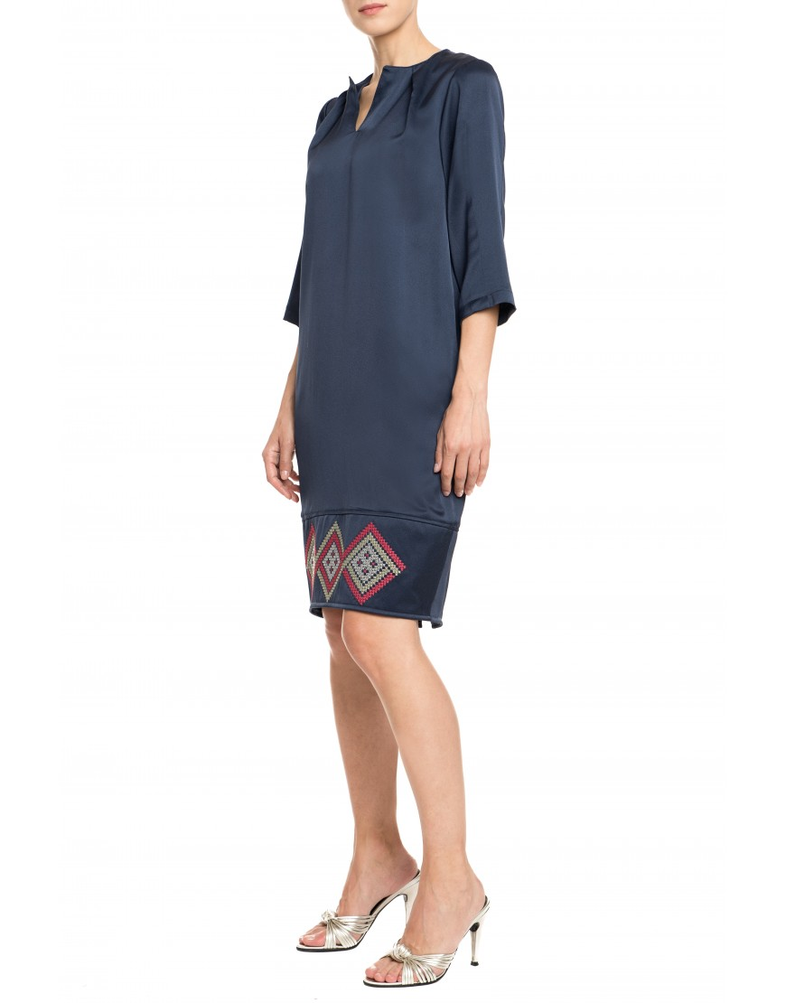 Infinity Indigo Blue Silk Dress