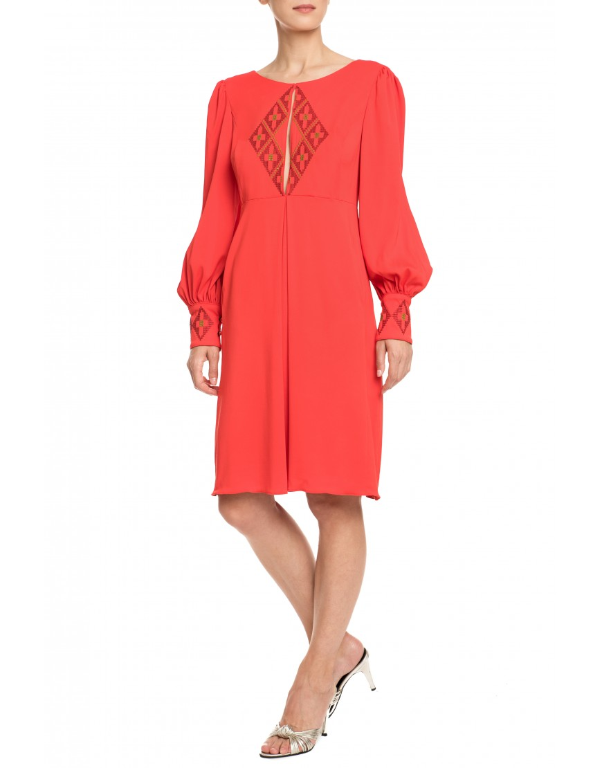 Origami Red Dress