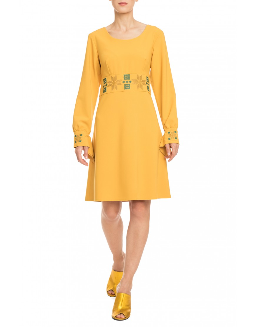 Rosales Mustard Yellow Dress