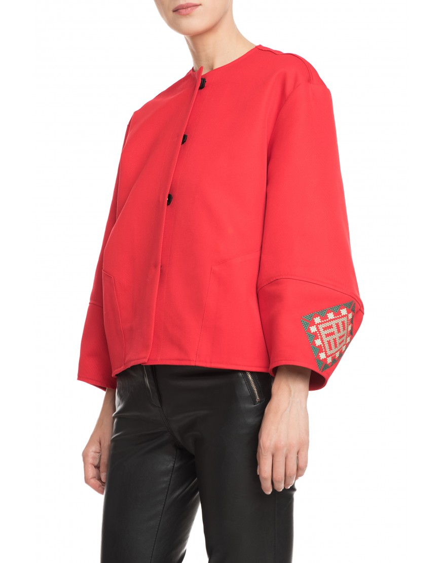Labyrinth Red Bomber Jacket