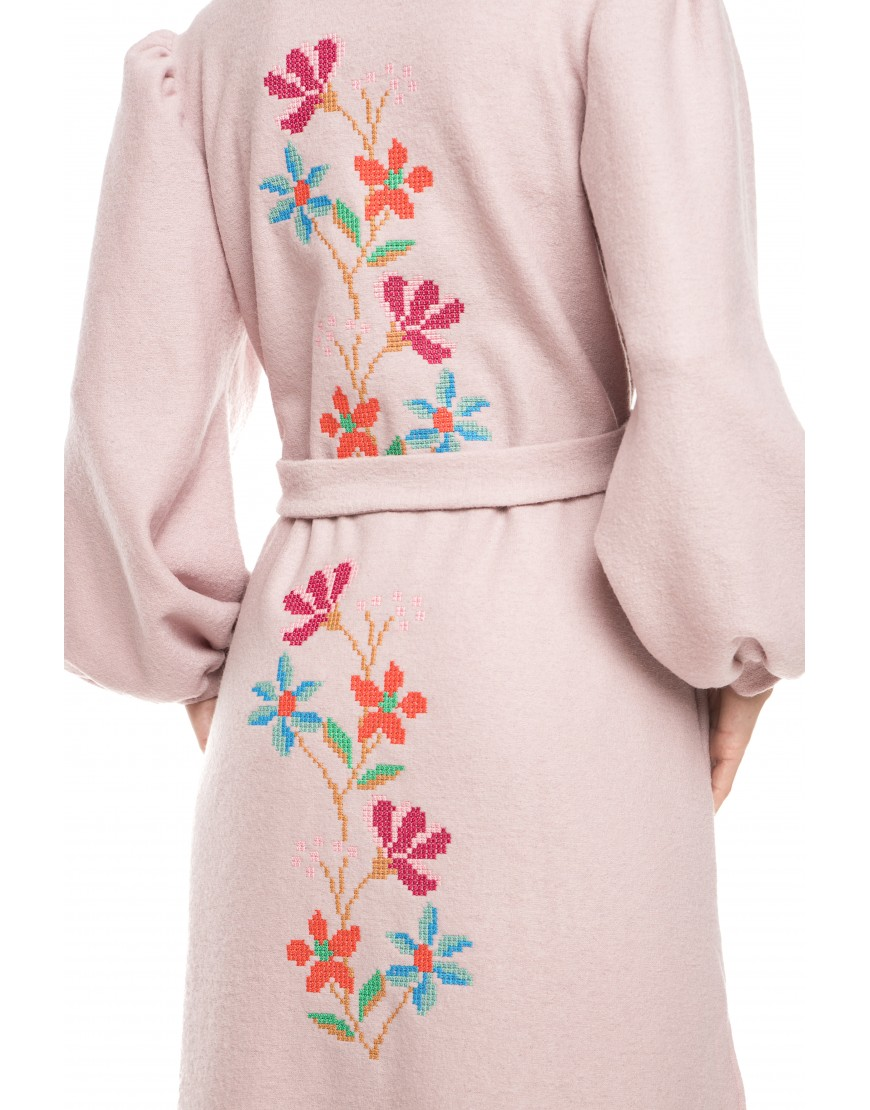Flowers Light Purple Cashmere Cardigan