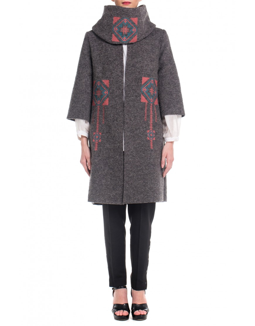 Blossom Eye Coat in Grey