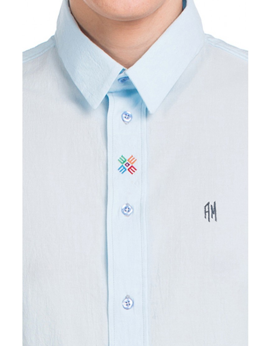 Monogram Shirt in Blue