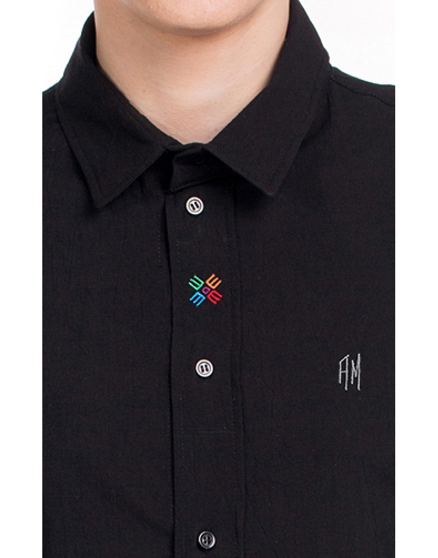 Monogram Shirt in Black