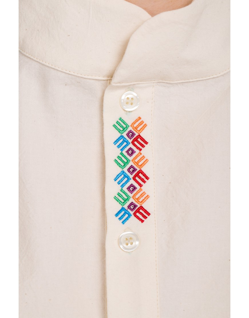 Logo Asymmetric Nature Shirt