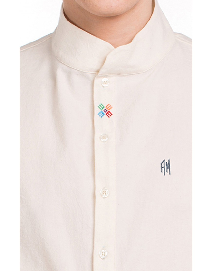 Monogram Asymmetric Nature Shirt