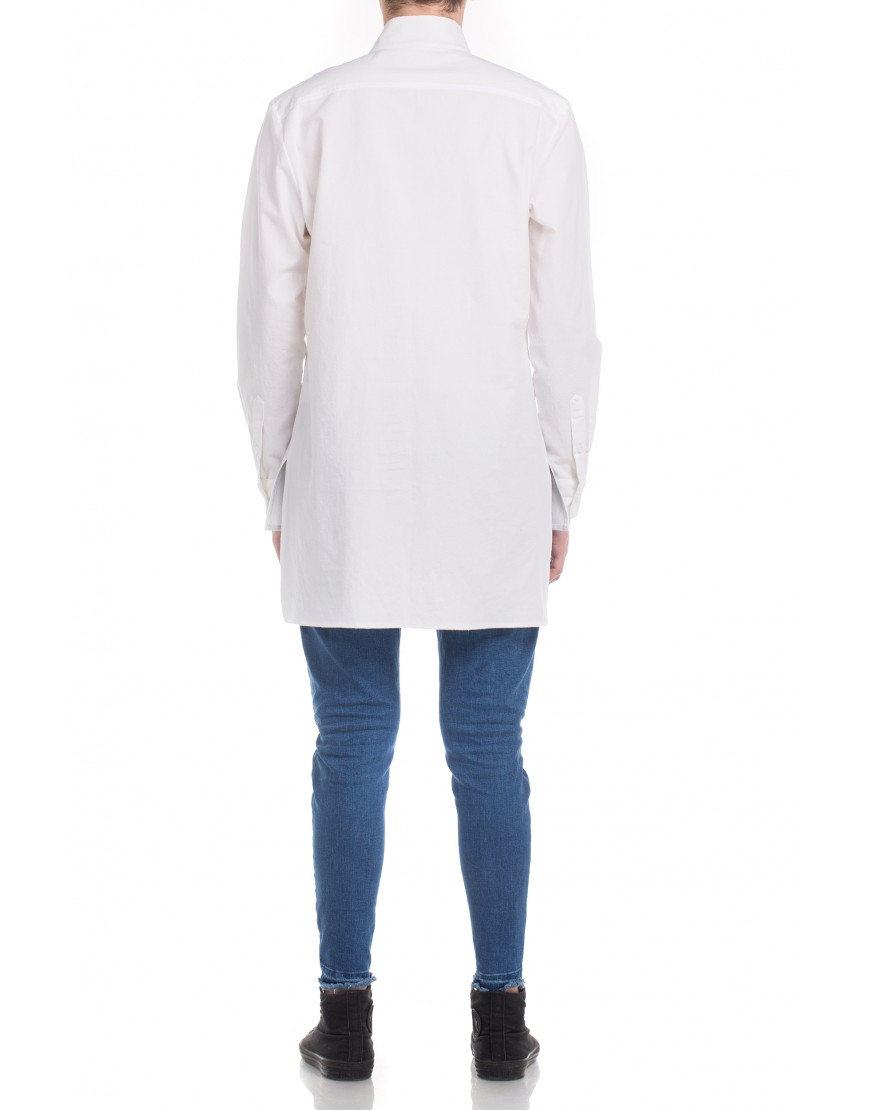 Monogram Asymmetric White Shirt