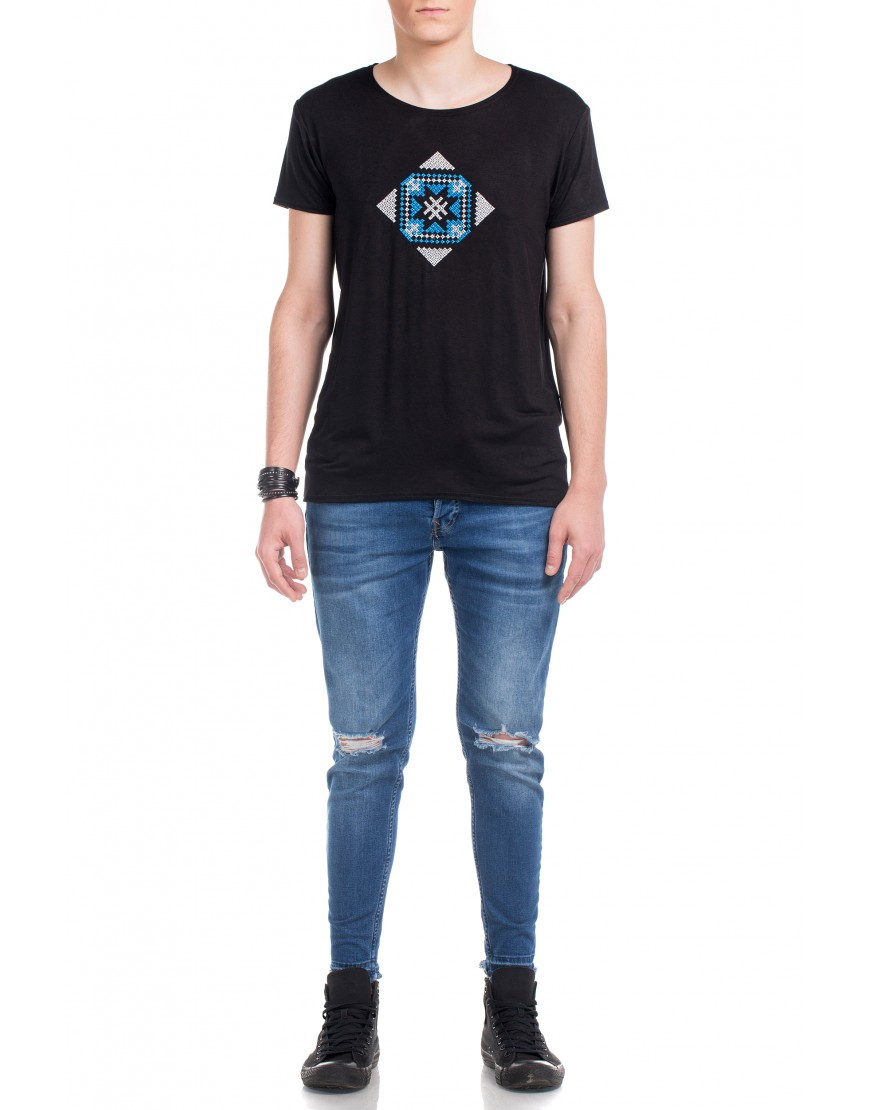 Blossom Eye Tshirt in Black