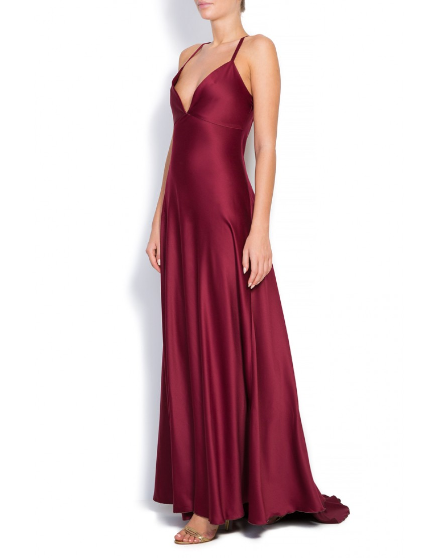 Flybird Dressy Gown in Burgundy