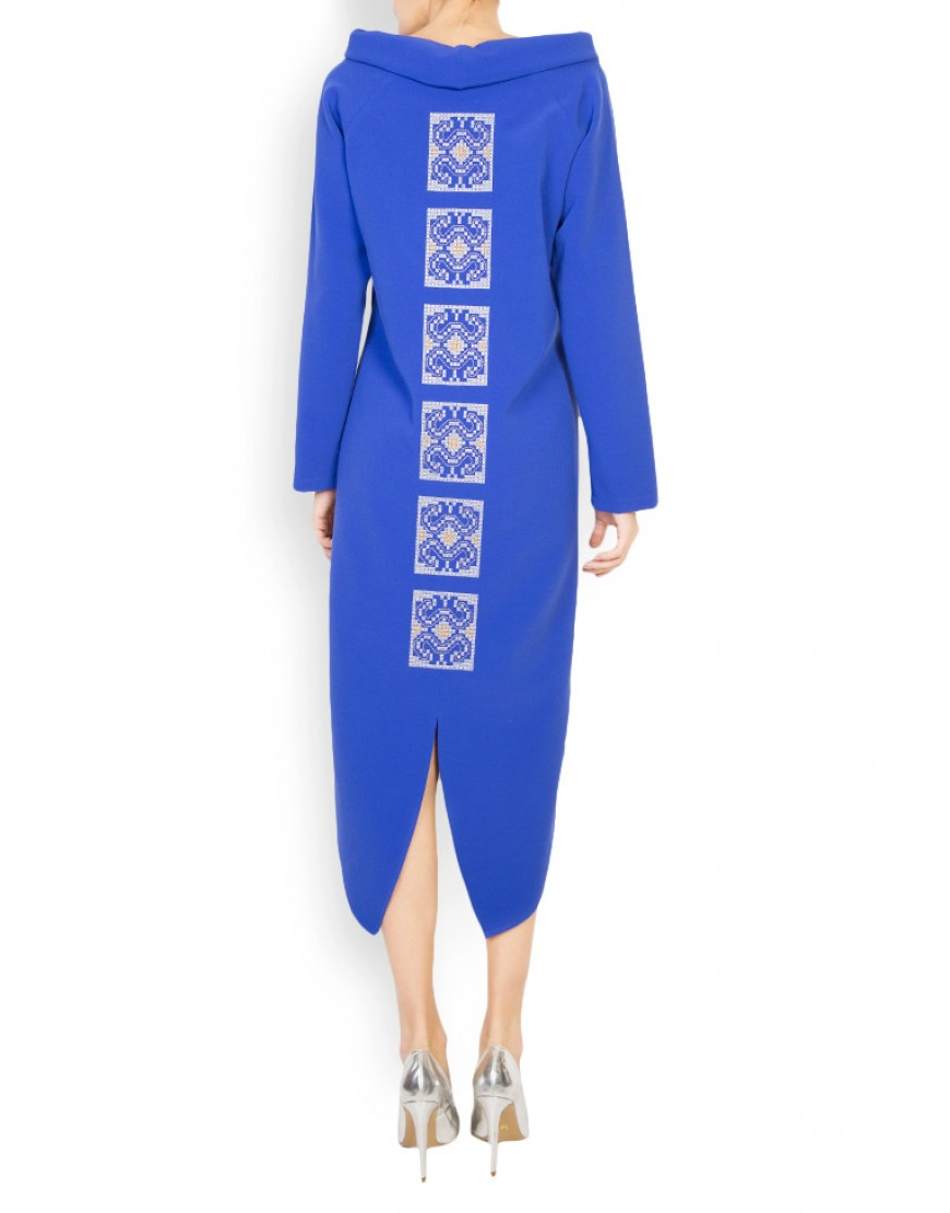 Aries Asymmetrical Blue Dress