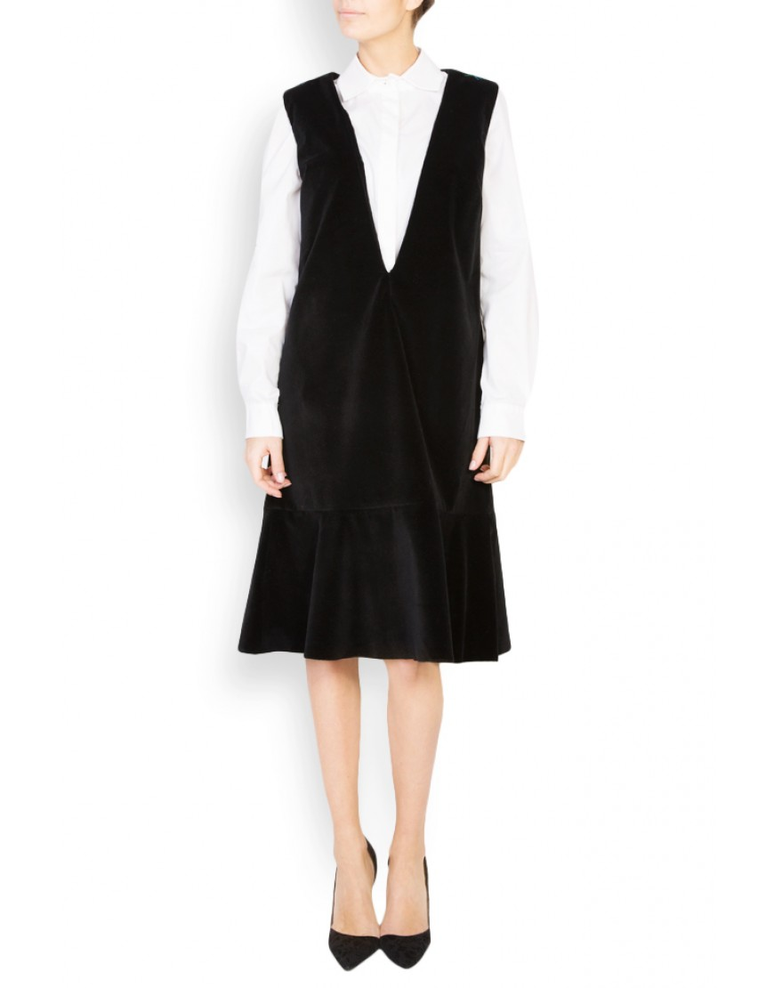 Logo Black Sarafan Dress