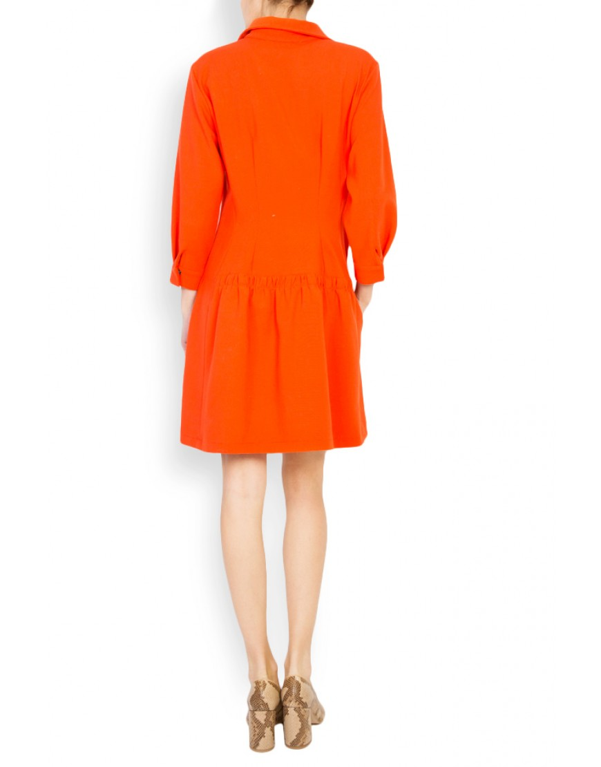 Logo Orange Dress