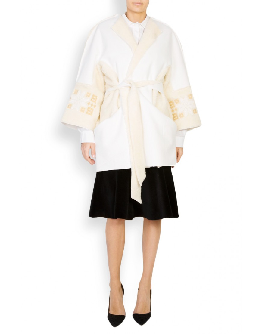 Rosales White Fur Coat