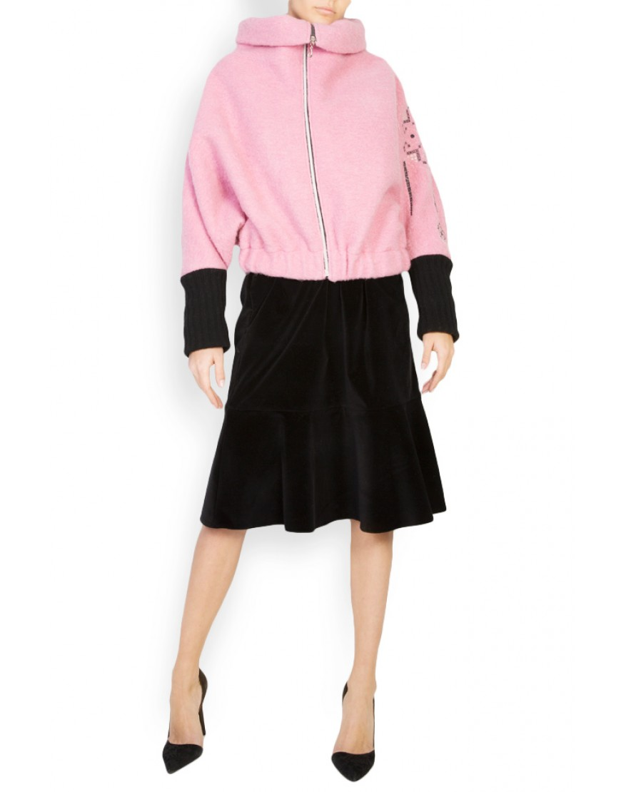 Tulips Pink Wool Jacket