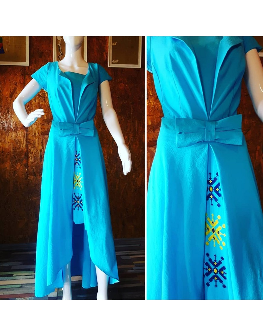 Turquoise Blowball Dress