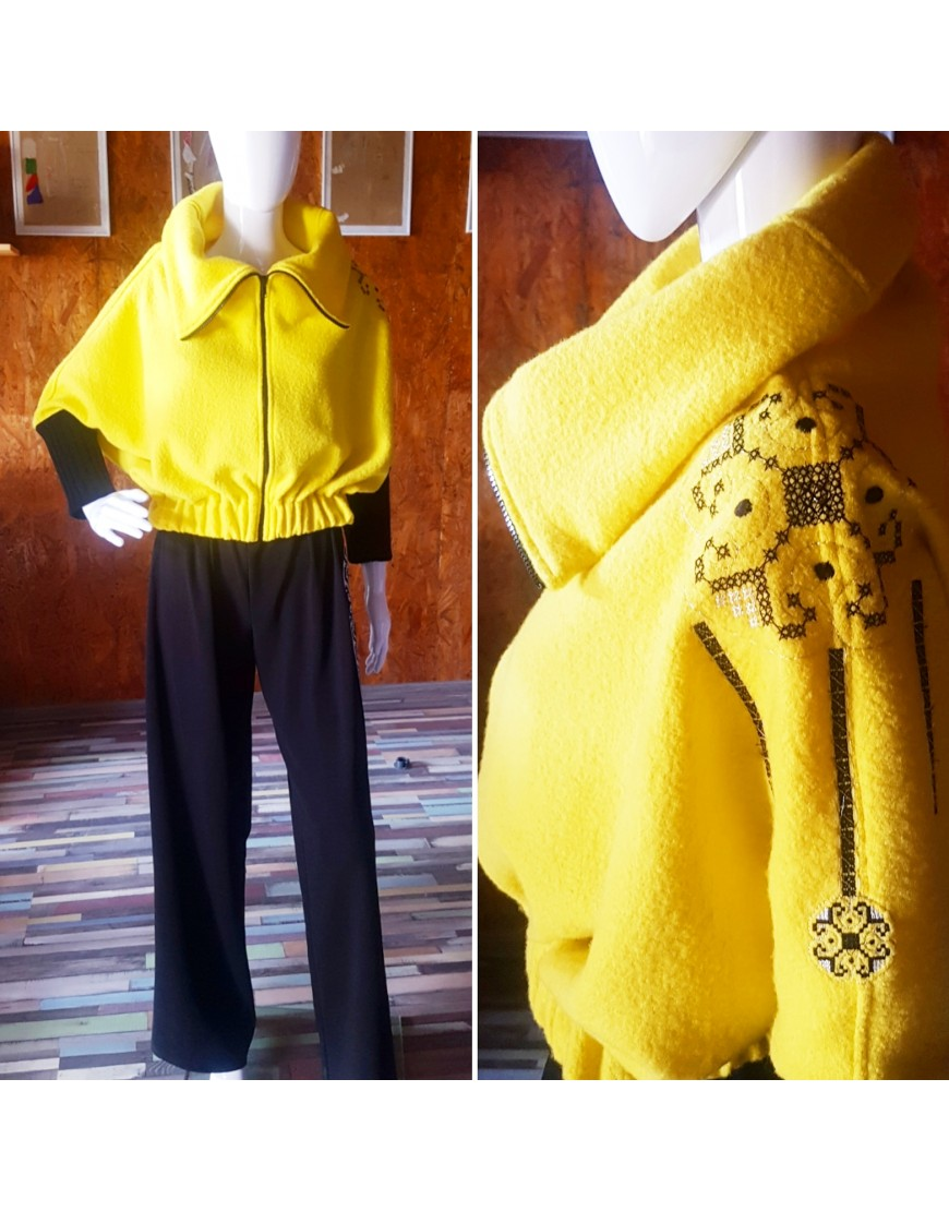 Tulips Yellow Wool Jacket