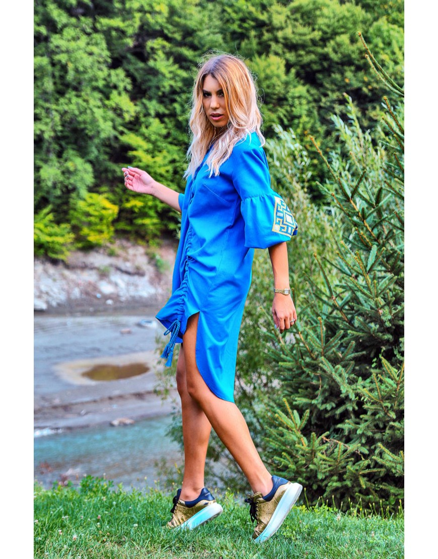 Aries Blue Dress with Cord