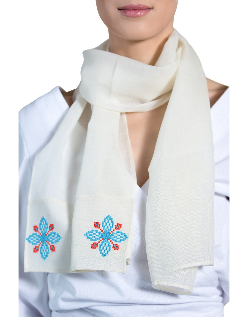 4Petals White Scarf