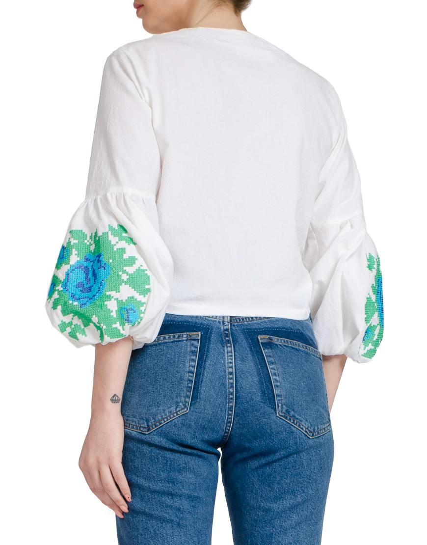 Blue Rose White Knot Shirt