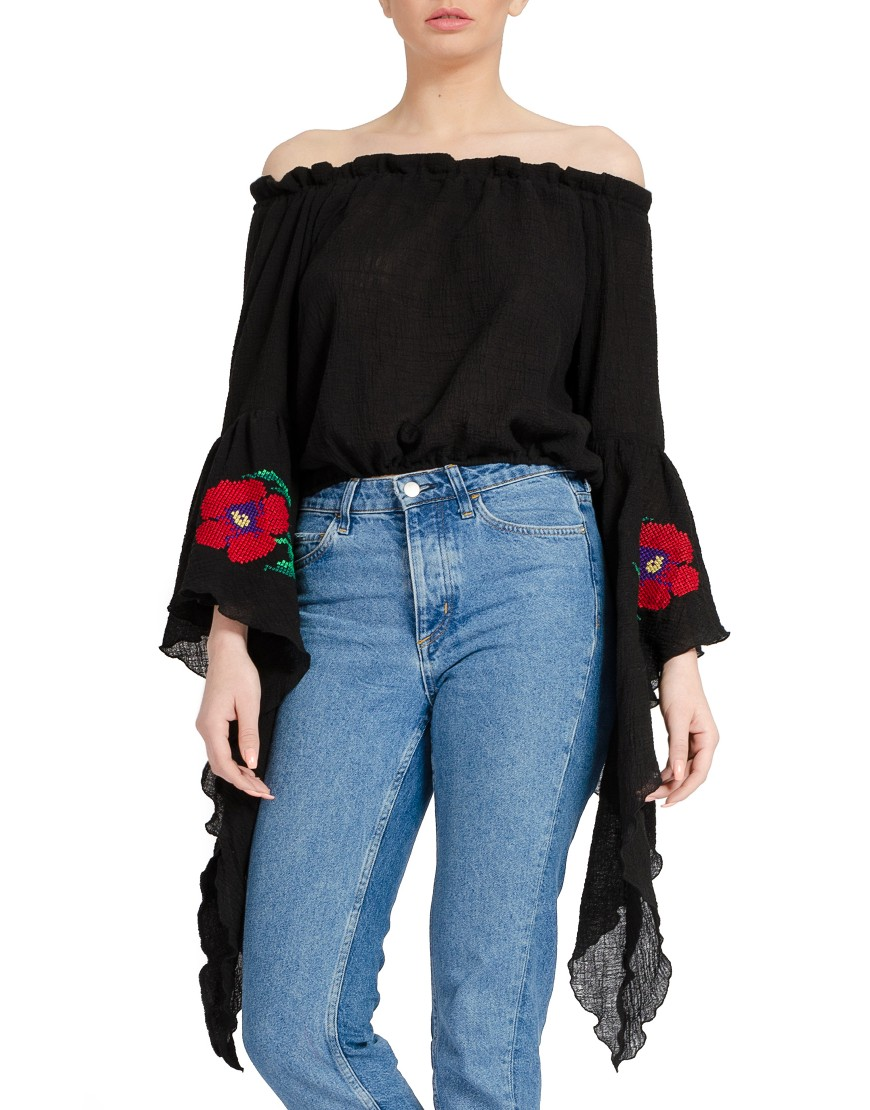 Poppy Black Blouse