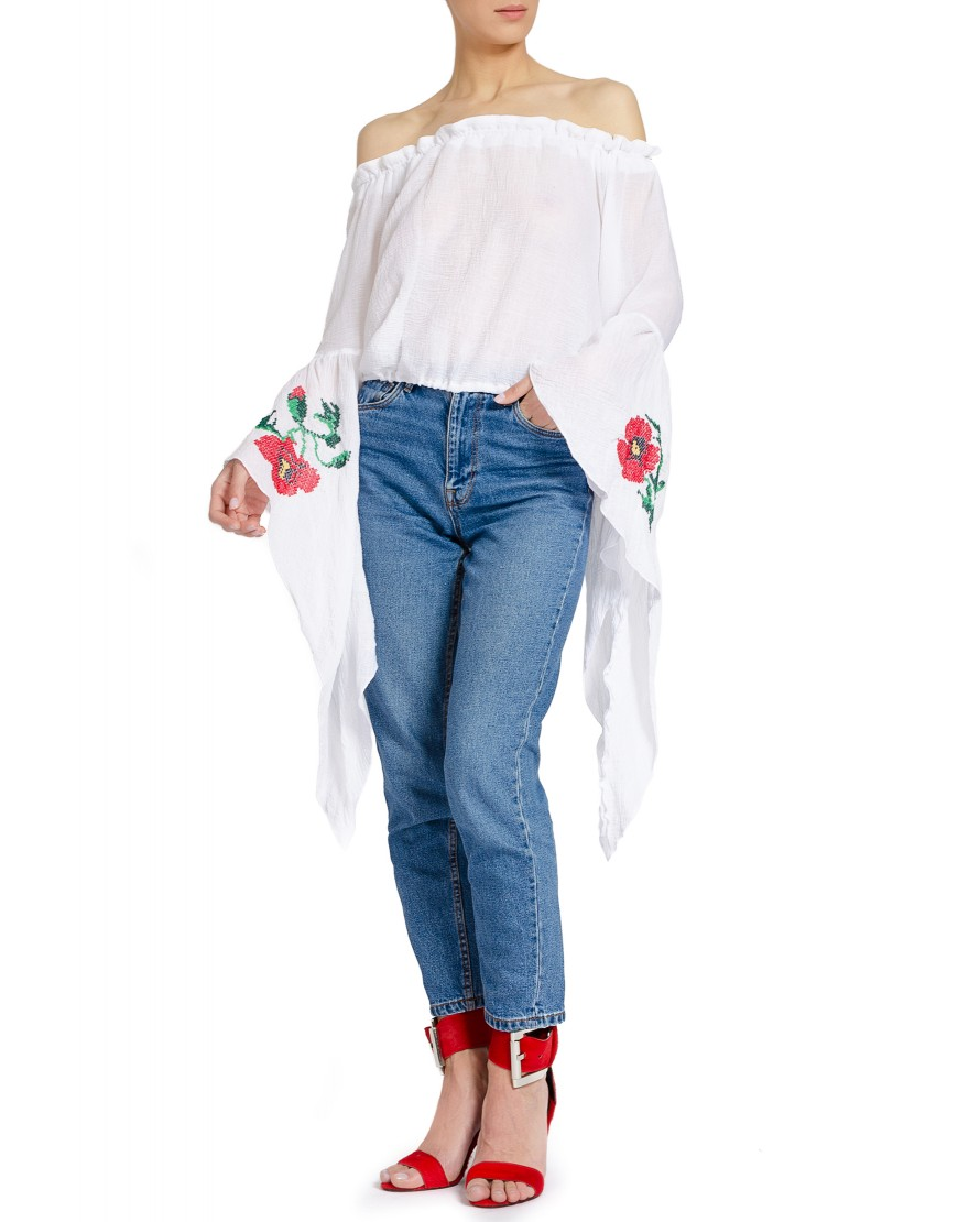 Poppy White Blouse