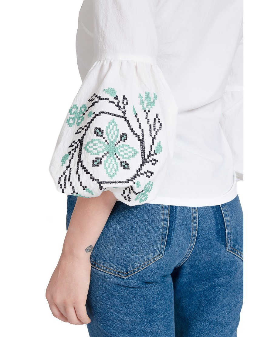Spiral Flower White Shirt