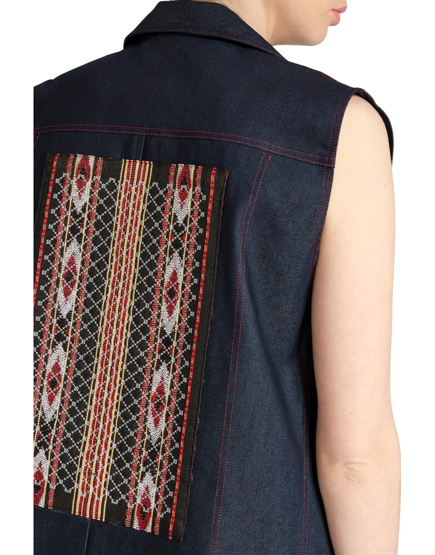 Stripes Denim Vest