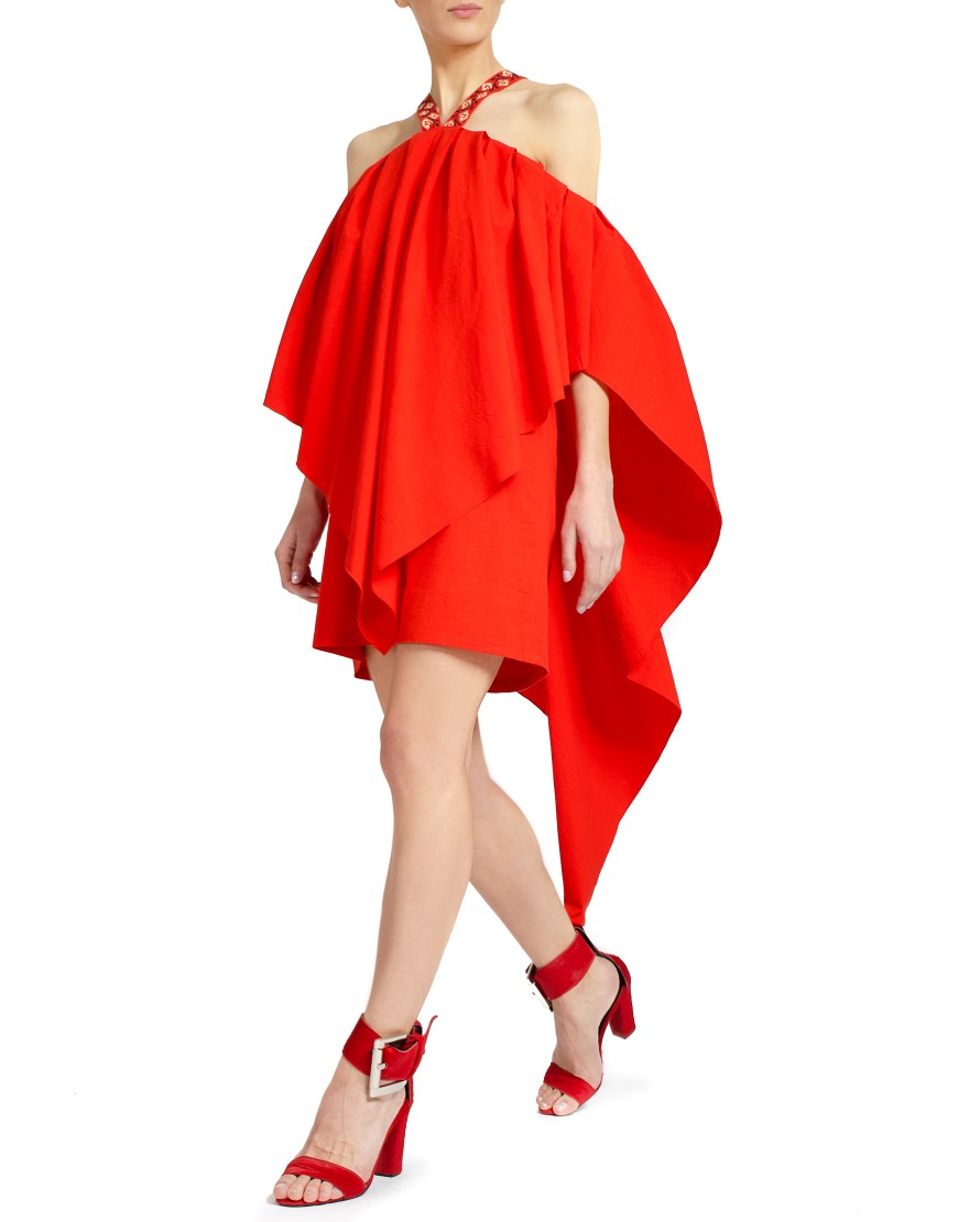 Asymmetrical Red Dress