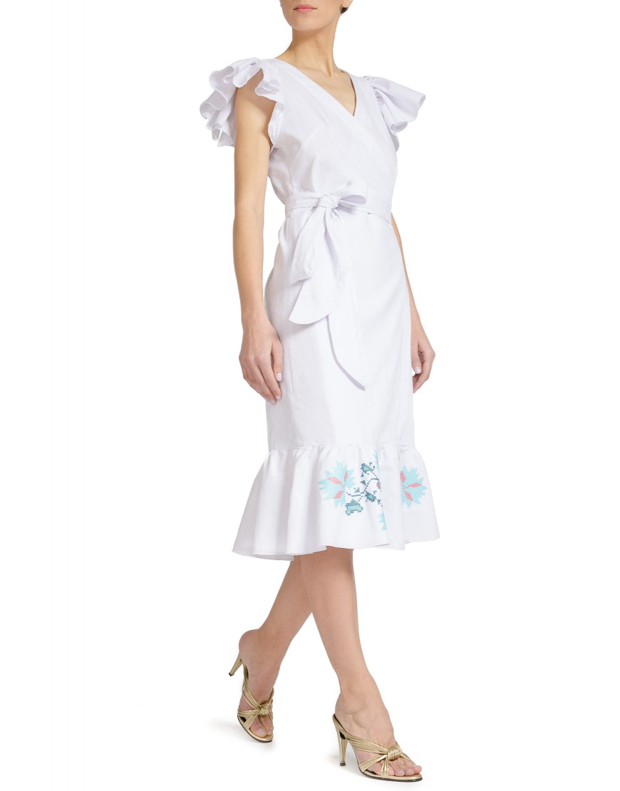 Maple Leaf White Dress