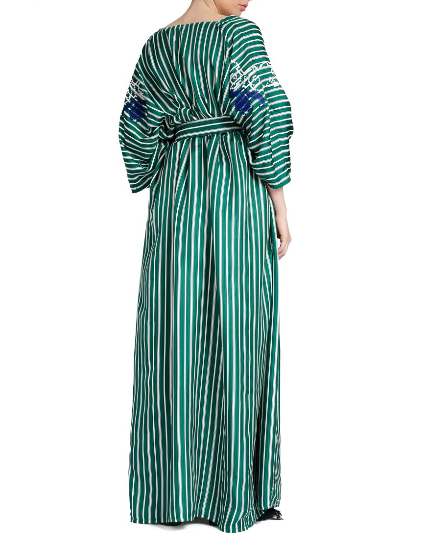 Tulip Striped Long Dress